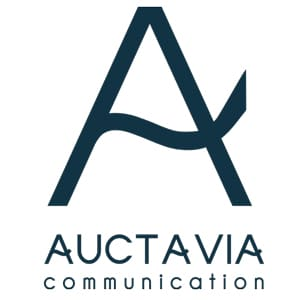 Logo Auctavia communication bleu